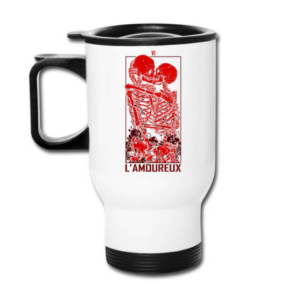 The Lovers Graphic Art Travel Mug Designed By Coolkids
