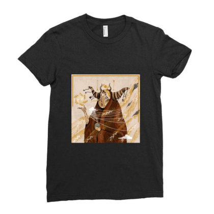 Horn Ladies Fitted T-shirt Designed By Derinaslan
