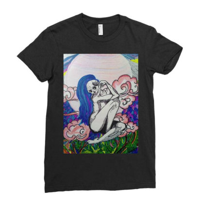 Goddess Of Lust Ladies Fitted T-shirt Designed By 21_pratgs_grg