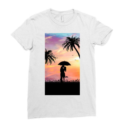 Lovers Ladies Fitted T-shirt Designed By Sherif.arts