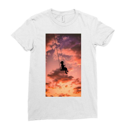 Silhouette Ladies Fitted T-shirt Designed By Sherif.arts