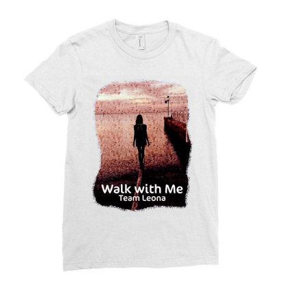 Team Leona St. Jude Walk Ladies Fitted T-shirt Designed By Animestars