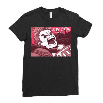Mirio Togata Art Ladies Fitted T-shirt Designed By Animestars