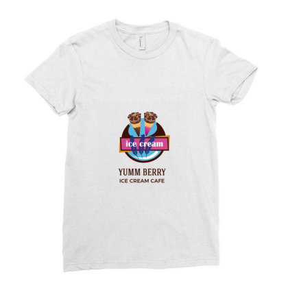 Ice Cream Tag Ladies Fitted T-shirt Designed By Bijender