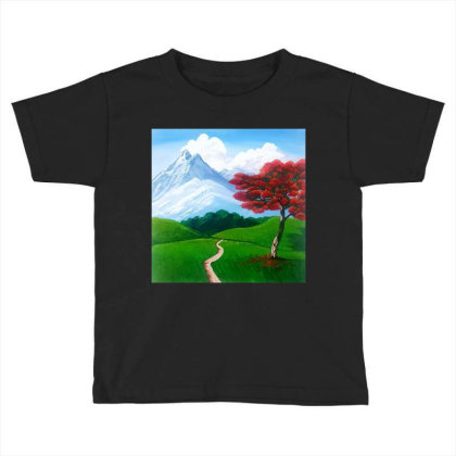 Landscape With Fire Tree Toddler T-shirt Designed By Mahroona's Art