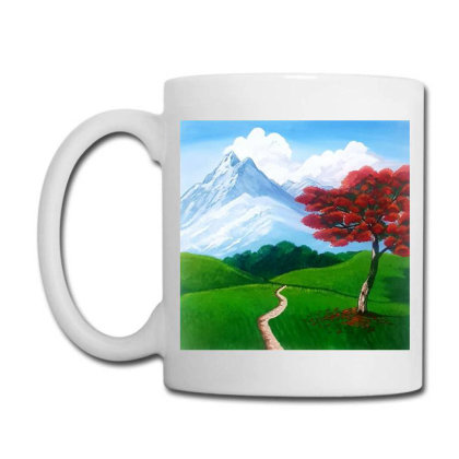 Landscape With Fire Tree Coffee Mug Designed By Mahroona's Art