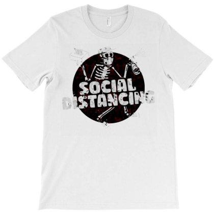 Social Distancing Dancing Skeleton T-shirt Designed By Animestars