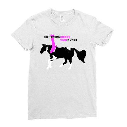 Stand By My Side Ladies Fitted T-shirt Designed By Animestars