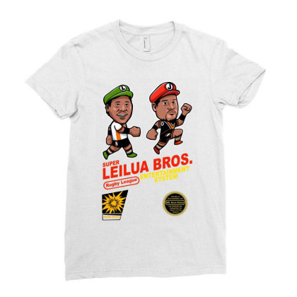Super Leilua Bros. Rugby League Entertainment Systems Ladies Fitted T-shirt Designed By Animestars