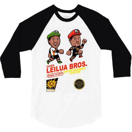 Super Leilua Bros. Rugby League Entertainment Systems 3/4 Sleeve Shirt Designed By Animestars