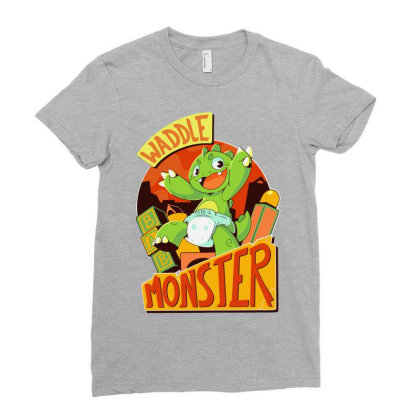 Waddle Monster Classic Ladies Fitted T-shirt Designed By Animestars