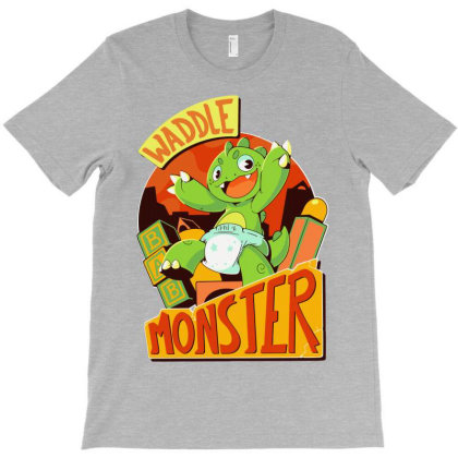Waddle Monster Classic T-shirt Designed By Animestars