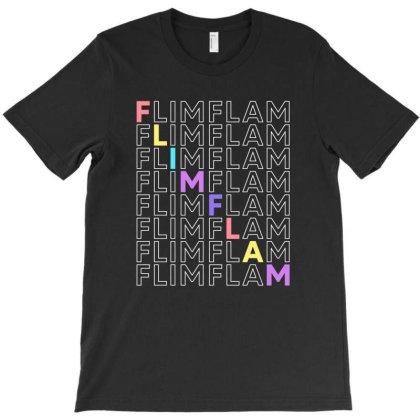 Flim Flam Repeat Colorful T-shirt Designed By Honeysuckle