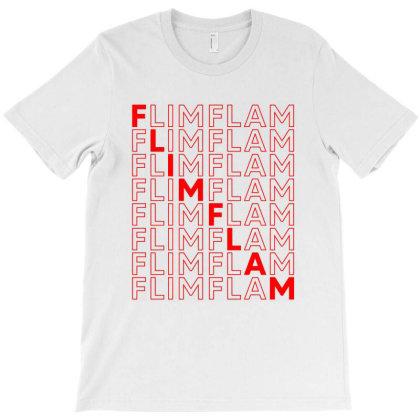 Flim Flam Repeat T-shirt Designed By Honeysuckle
