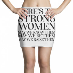 here's to strong women poste Mini Skirts | Artistshot