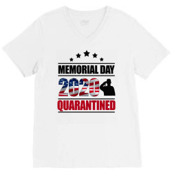 memorial day 2020 quarantine V-Neck Tee | Artistshot