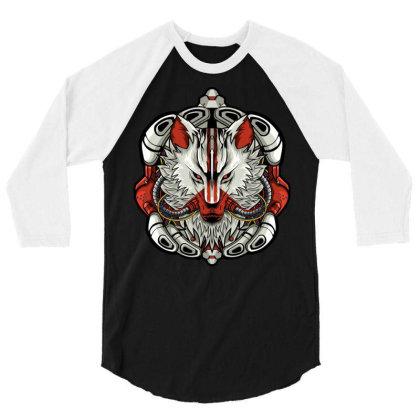 White Wolf 3/4 Sleeve Shirt Designed By Koyung