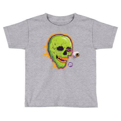 Eyeball Green Skull Caputti Toddler T-shirt Designed By Johny Caputti