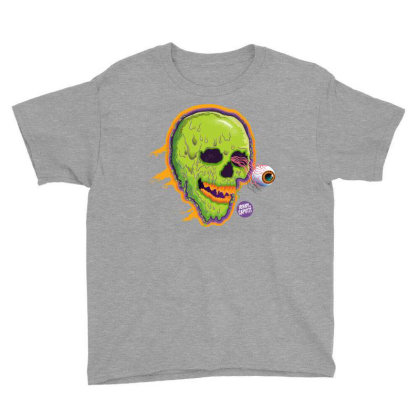 Eyeball Green Skull Caputti Youth Tee Designed By Johny Caputti