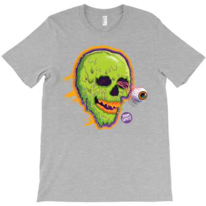Eyeball Green Skull Caputti T-shirt Designed By Johny Caputti
