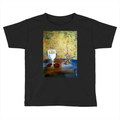 Candle Light Toddler T-shirt Designed By Mahroona's Art
