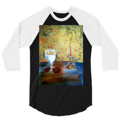 Candle Light 3/4 Sleeve Shirt Designed By Mahroona's Art