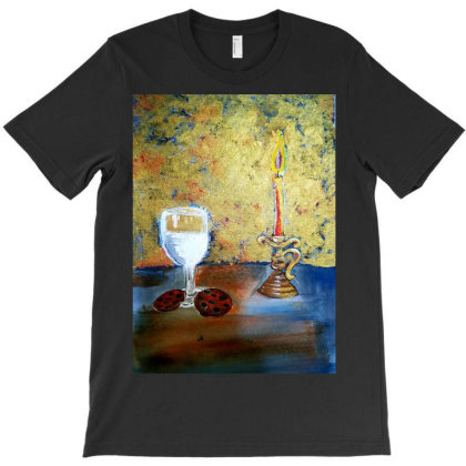Candle Light T-shirt Designed By Mahroona's Art