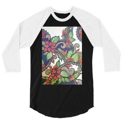 Floral Design 3/4 Sleeve Shirt Designed By Mahroona's Art