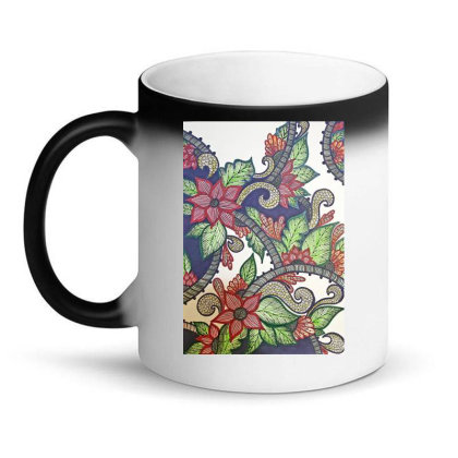 Floral Design Magic Mug Designed By Mahroona's Art