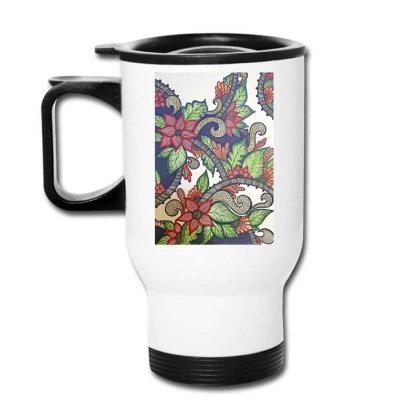 Floral Design Travel Mug Designed By Mahroona's Art