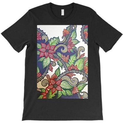 Floral Design T-shirt Designed By Mahroona's Art