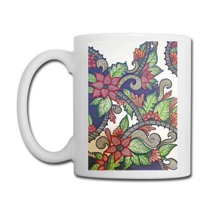 Floral Design Coffee Mug Designed By Mahroona's Art