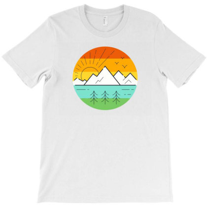 Sunset T-shirt Designed By Designsbymallika