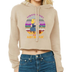 Strong Women,car Mechanic Cropped Hoodie Designed By Cuser2397