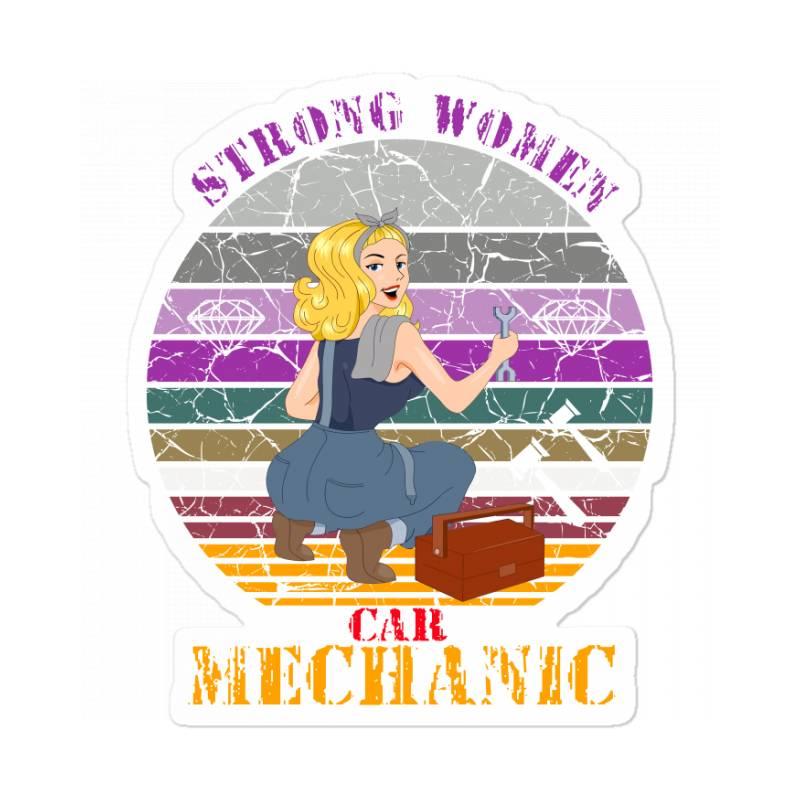 Strong Women,car Mechanic Sticker   Artistshot