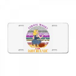 strong women,car mechanic License Plate   Artistshot
