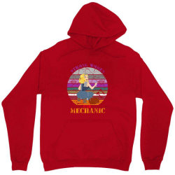 Strong Women,car Mechanic Unisex Hoodie Designed By Cuser2397