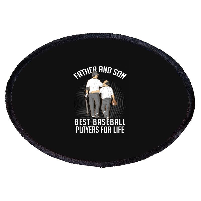 Father And Son Best Basebal Players For Life Oval Patch | Artistshot
