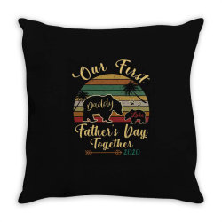 our first father's day together Throw Pillow | Artistshot