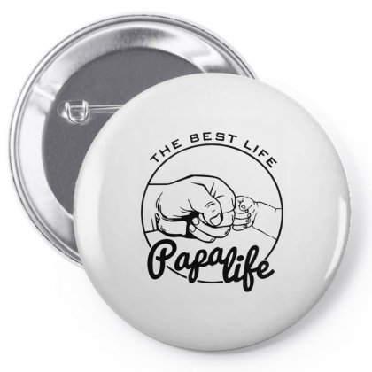 Papa Life Personalised Fathers Day Pin-back Button Designed By Hoainv