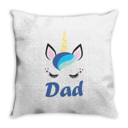 dad cute unicorn father's day Throw Pillow | Artistshot
