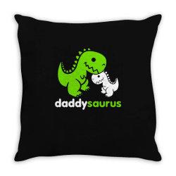 daddy saurus father's day gift Throw Pillow | Artistshot