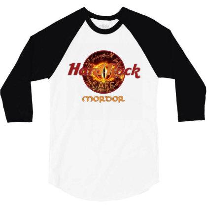 Hard Rock Cafe Mordor 3/4 Sleeve Shirt Designed By Cuser3143