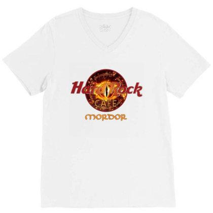 Hard Rock Cafe Mordor V-neck Tee Designed By Cuser3143