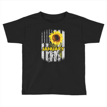 January Girl Toddler T-shirt Designed By Cuser3143
