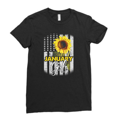 January Girl Ladies Fitted T-shirt Designed By Cuser3143