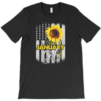 January Girl T-shirt Designed By Cuser3143