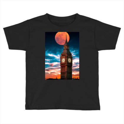 Clock Tower Toddler T-shirt Designed By Sherif.arts