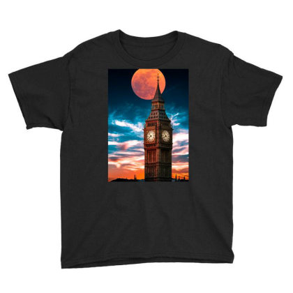 Clock Tower Youth Tee Designed By Sherif.arts