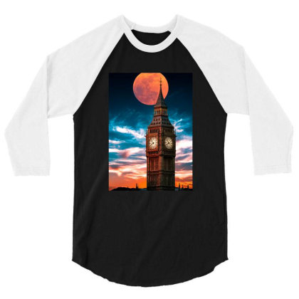 Clock Tower 3/4 Sleeve Shirt Designed By Sherif.arts